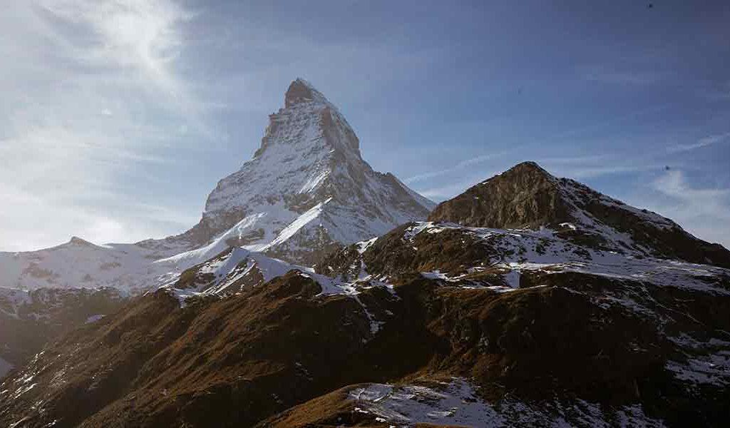 Das Matterhorn im Sonnenschein